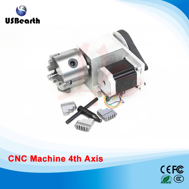 5M-6-100A 3 Jaw 100mm chuck CNC 4th Axis CNC dividing head for mini cnc router cnc 5 axis a aixs rotary axis three jaw chuck type for cnc router
