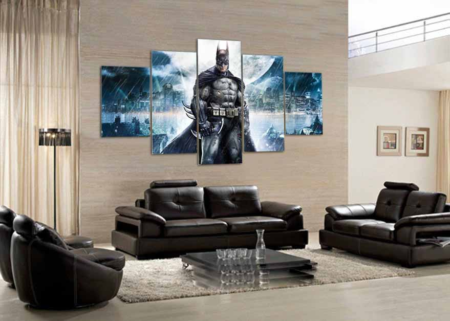 ᑎ‰5 panel HD printed painting American Captain movie poster canvas ...