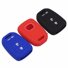 3 Buttons Silicone Car Key Cover Case For Honda New Remote With Hold No Logo