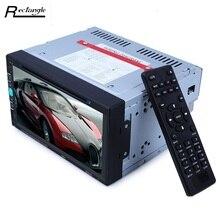 6950 Samochodów Odtwarzacz DVD Stereo Bluetooth Auto Radio-DVD W desce rozdzielczej Podwójne Din Samochód Stereo Wideo z Mic Ekran dotykowy Odtwarzacz