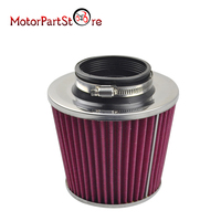 FOR K&N 3 to 4 Round Tapered Universal Air Intake Cone Filter Chrome Truck/SUV/Car