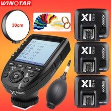 GODOX XPro-C E-TTL 2.4G Wireless High Speed Sync X system Trigger + 3x Godox X1R-C Receiver For Canon EOS Cameras