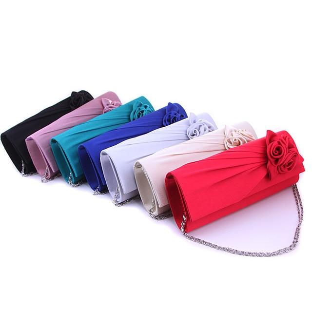 New European Flower Clutch Bag Bridesmaid Wedding Evening Bag Chain Casual Handbag Party Shoulder Messenger Bags