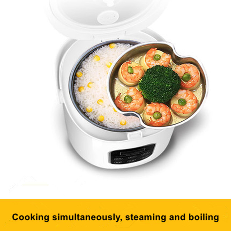 Купить с кэшбэком 1.6L rice cooker 220v used in house car 12v to 24v enough for 2-3 persons Electric Mini Rice cooker portable heating lunch box