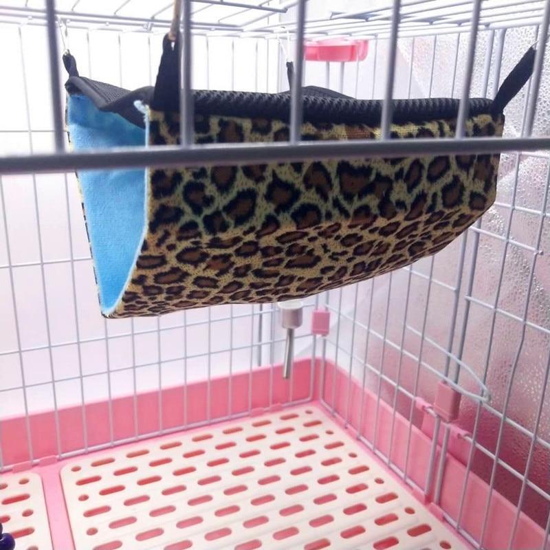 1pcs Double Layer font b Pet b font Rat Hammock For Rabbit Cage Hanging Warm Bed