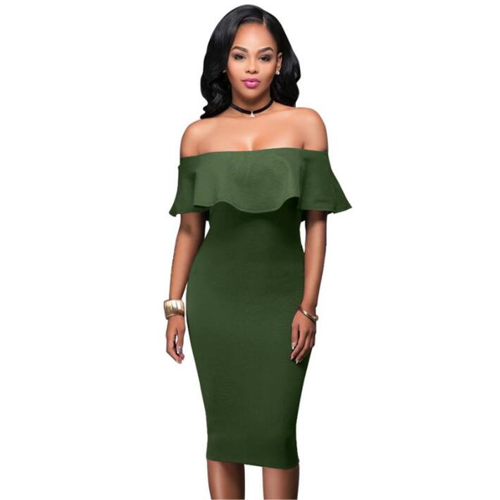 С открытыми плечами короткий рукав бордовый рюшами летнее платье 2018 для женщин пикантные Тонкий Bodycon Мини Вечерние Клубные платья