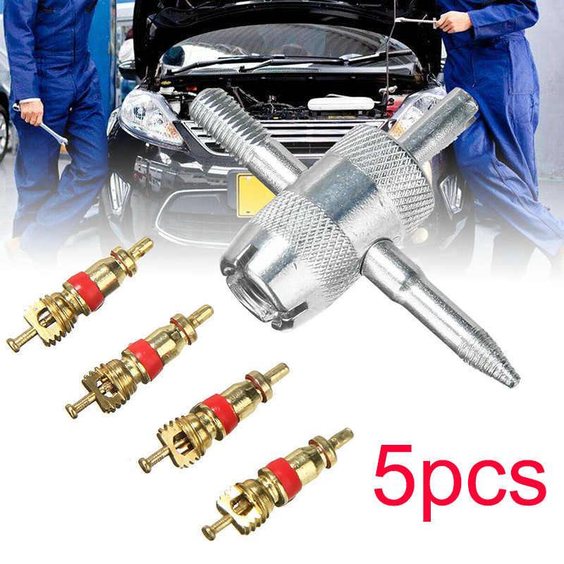 1 Set 4-In-1 Mobil Batang Katup Ban Perbaikan Removal Tool Valve Penarik Sepeda Motor Ban Perbaikan Alat valve Core Aksesoris Suku Cadang Mobil