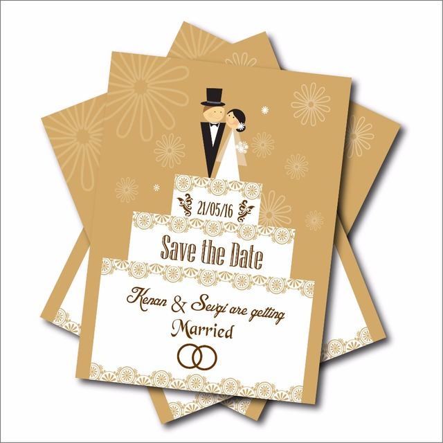 20 pcs/lot Custom Cartoon Wedding invitations Save the Date Postcard - post card invitations