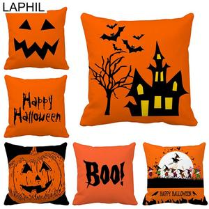 Image 1 - LAPHIL Halloween Party Scary Pumpkin Witch Pillowcase Happy Halloween Decorations for Home 2019 Merry Christmas Party Supplies