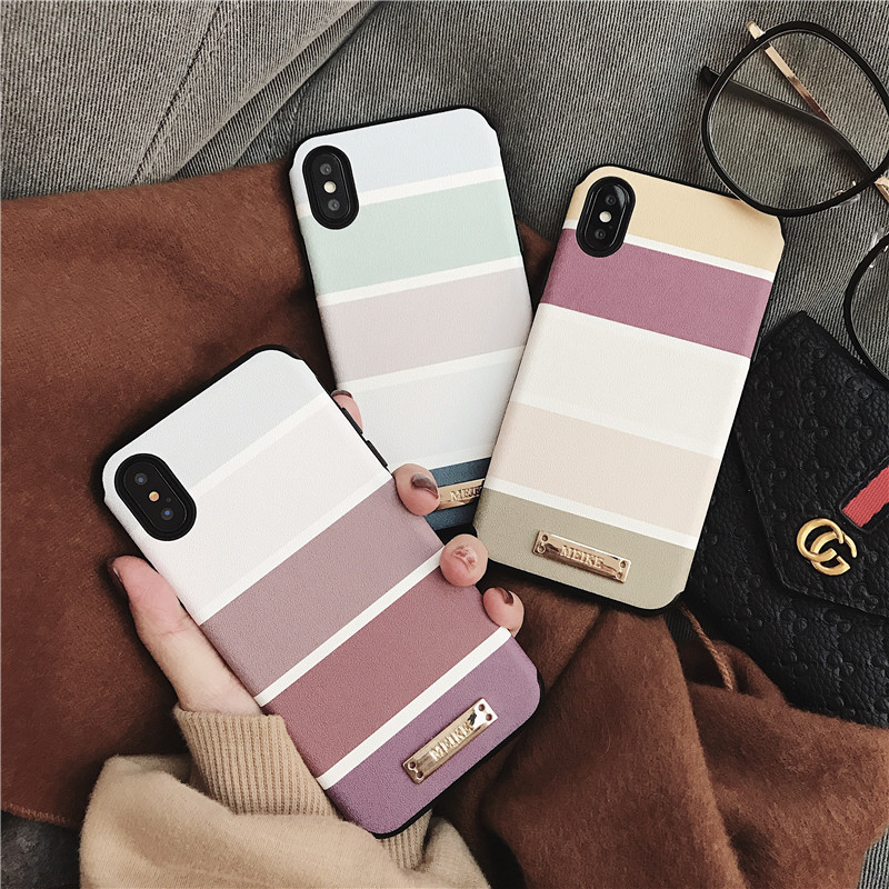 Matcheasy Shockproof Case For Iphone X 6 6S 7 Plus Case Plastic Silk Pattern Back Phone Cover For Iphone 8 8 Plus 7Plus Capa