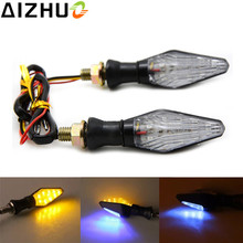 Motorcycle Turn Signal Light Amber Blue Light 12V LED Decorative Blinker font b Lamp b font