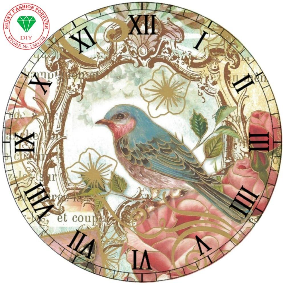 diy diamonds paintings resin animal bird clock full square