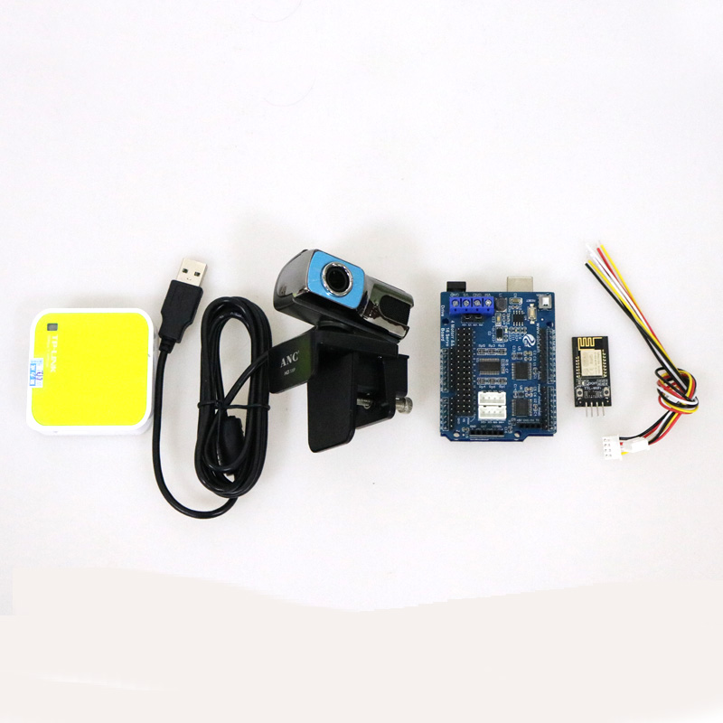 2/3/4wd RC Video Controller Kit with UNO+Motor Driver Board+WiFi Module+Cemera+Router for Arduino Smart Robot Tank Car DIY