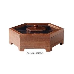 Image 5 - 유럽 크리 에이 티브 단단한 나무 사탕 상자 뚜껑 건조 과일 스낵 상자 홈 나무 견과류 멜론 스토리지 박스 결혼 선물