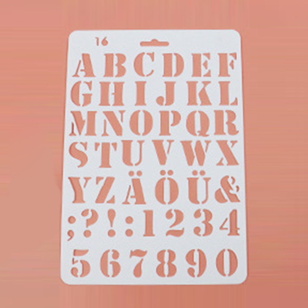 Letter Alphabet Number Layering Stencils Masking Spray Painting Paper Card Craft