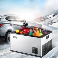 35L 12V 240V Car Refrigerator Compressor Refrigeration Mini Fridge Refrigerating Freezer Mini Portable Cooler Auto Refrigerator