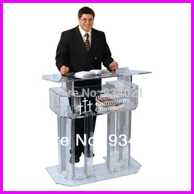 Durable Acrylic Desktop Lectern/desktop Pulpit/desktop Podium Plexiglass