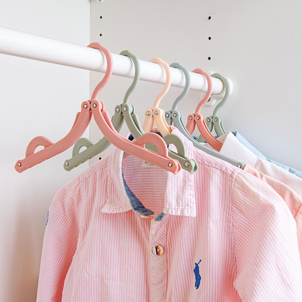 1Pc Foldable Clothes Rack Hanger Laundry Folding Drying Rack Holder Space Saving Traveling Clothes Dryer Clothing Rack