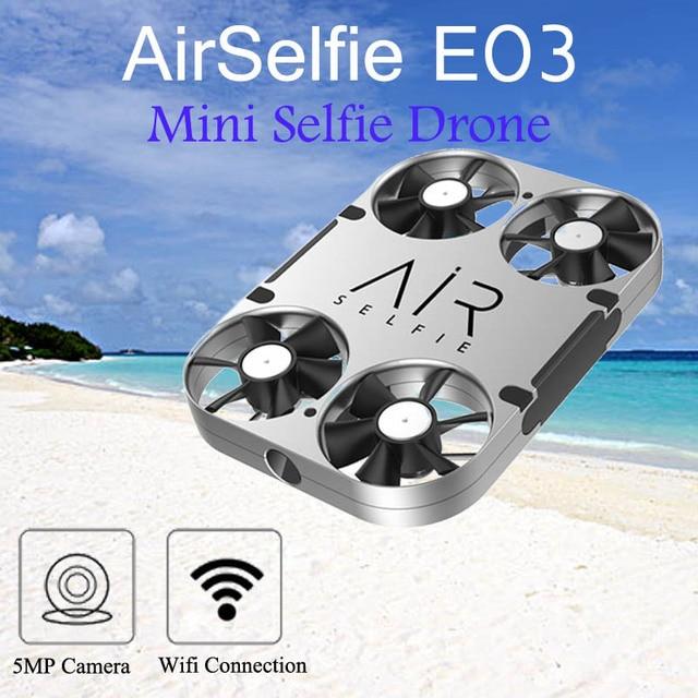 Original Airselfie E03 Wifi Fpv 5mp Hd Camera Selfie Drone Power Bank Brushless Rc Quadcopter Mini Pocket Drone Vs Jjrc H37