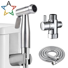 Handheld Toilet bidet Sprayer Set Kit Stainless Steel Portable Bidet faucet for Bathroom Hand Shower Head Clean Atalawa