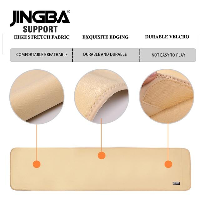 JINGBA SUPPORT 1PCS Professional Adjustable waist trimmer sweat belt Sports Pressurized Back Waist Support Fitness Bodybuilding 4