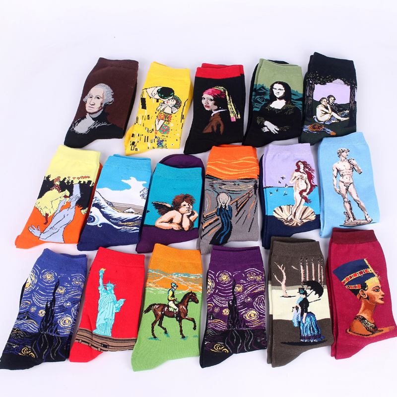 Art socks - 18 different works of art
