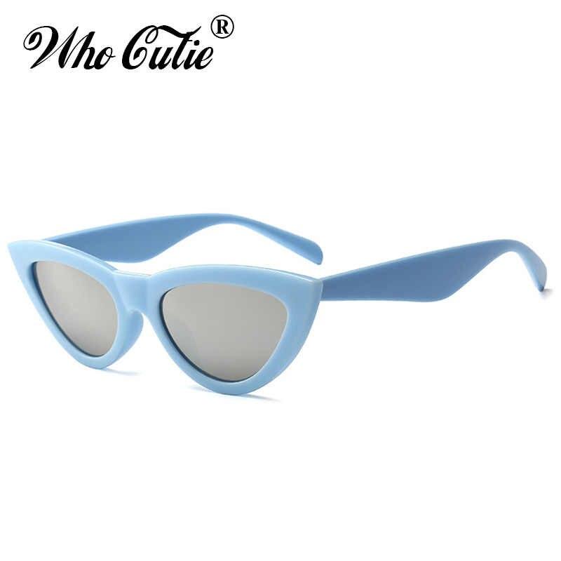 Que Linda 2018 espejo ojo de gato gafas de sol mujer marca diseñador  Vintage Retro mujer a8280b9f2ccc
