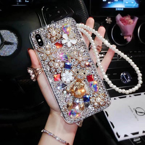 Image 2 - Funda para teléfono P20 Pro, de moda, cristal de TPU suave con diamantes de imitación y purpurina para Huawei P30 Pro P30 P20 Lite, funda con correa para joyería