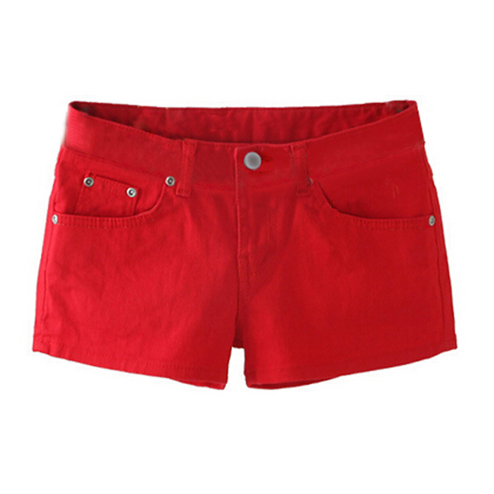 Aliexpress.com : Buy Summer Denim Shorts Slim Fit Candy Color ...