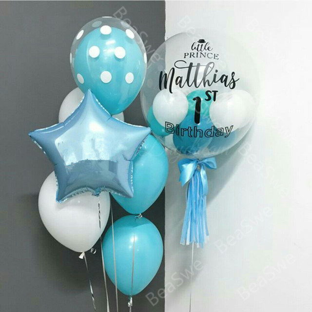 Personalised Boys First Birthday Card Bubbles By August: Aliexpress.com : Buy Customize 18inch Transparent Bubble