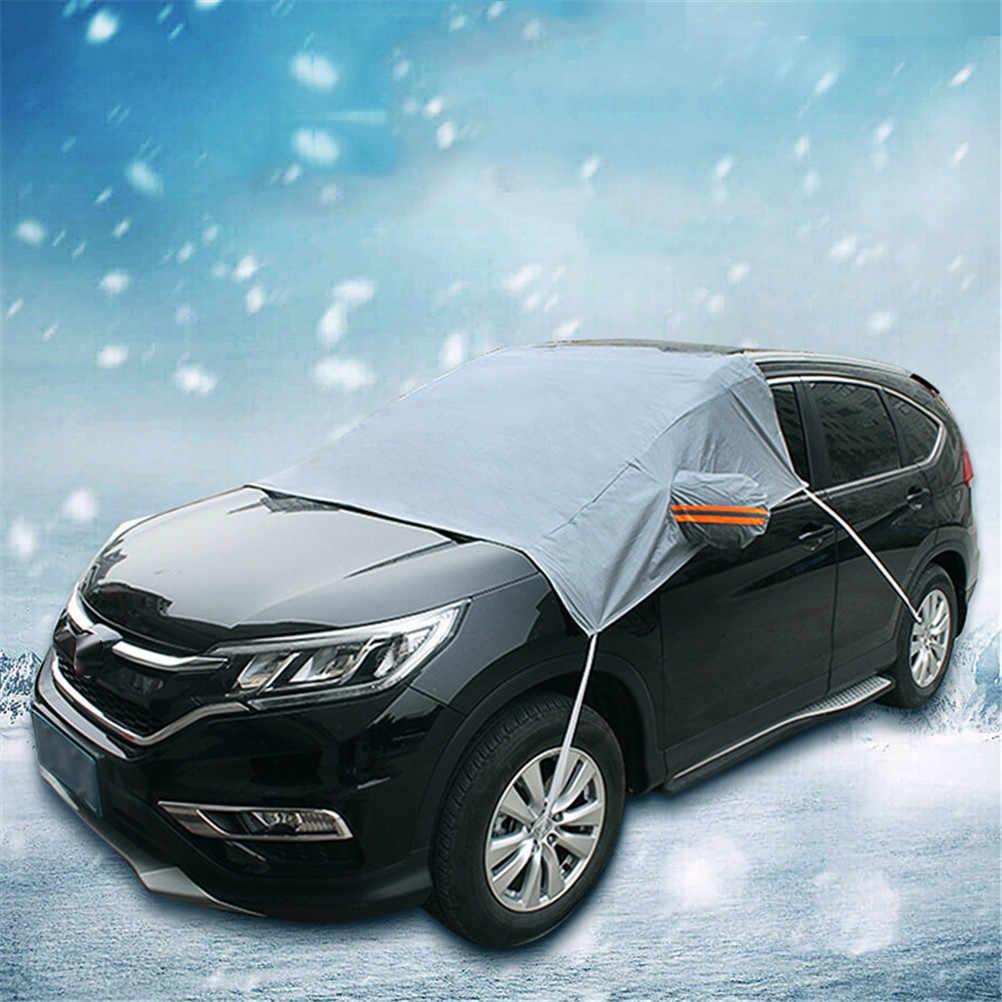 Auto cubierta de nieve parabrisas del coche parasol ciego ventana frontal pantalla helada