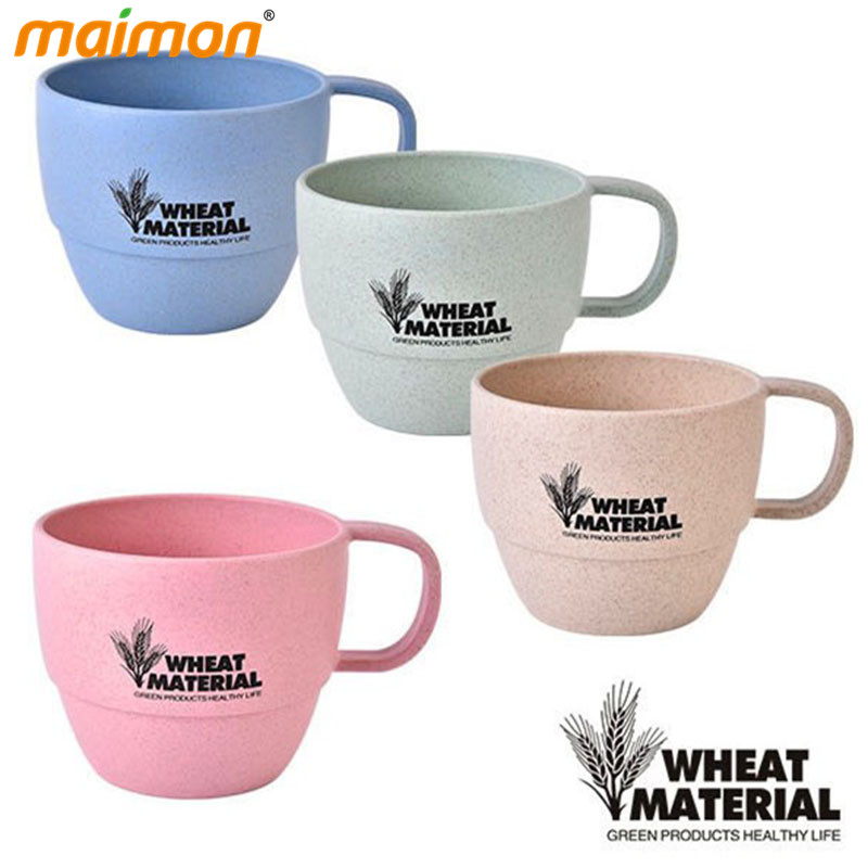 ̿̿̿(•̪ )Paja de trigo natural Fibra plástico taza de café redonda ...