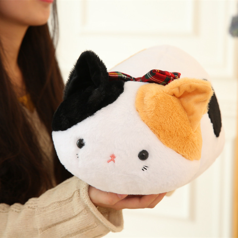 1pc 20cm Kawaii Soft Cat Plush Toys Stuffed Animal Lying Cat Doll Cute Doll for Kids Baby Birthday Gift Children's Gift Pillow cute 45cm stuffed soft plush penguin toys stuffed animals doll soft sleep pillow cushion for gift birthady party gift baby toy