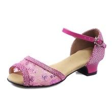 Shoes women Ballroom Salsa tango latin dance shoes low heels dancing for kids girls children women ladies free shipping