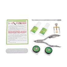 8Pcs Professional Ingrown Toe Nail Correction Tool Set Toenail Straightening Patch Nail Clipper Pusher Pedicure Foot Care Tool