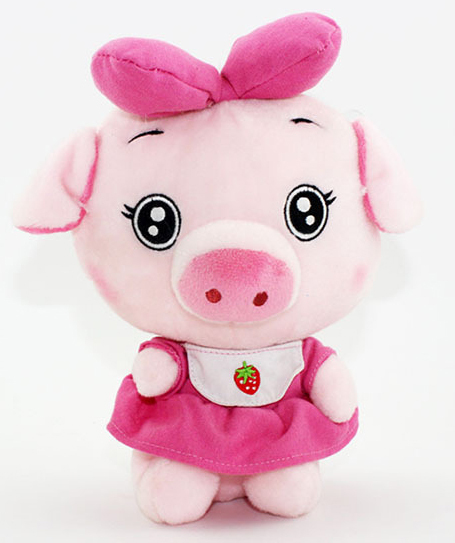 Cute piggy plush animal for little kids gift soft cutton