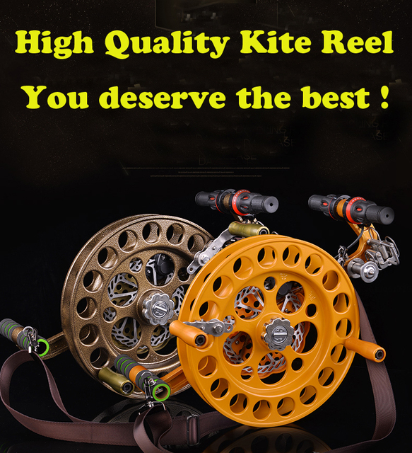 free shipping high quality new design32 cm alloy steel flying kite reel with disk brake kite wheel easy control kite eagle