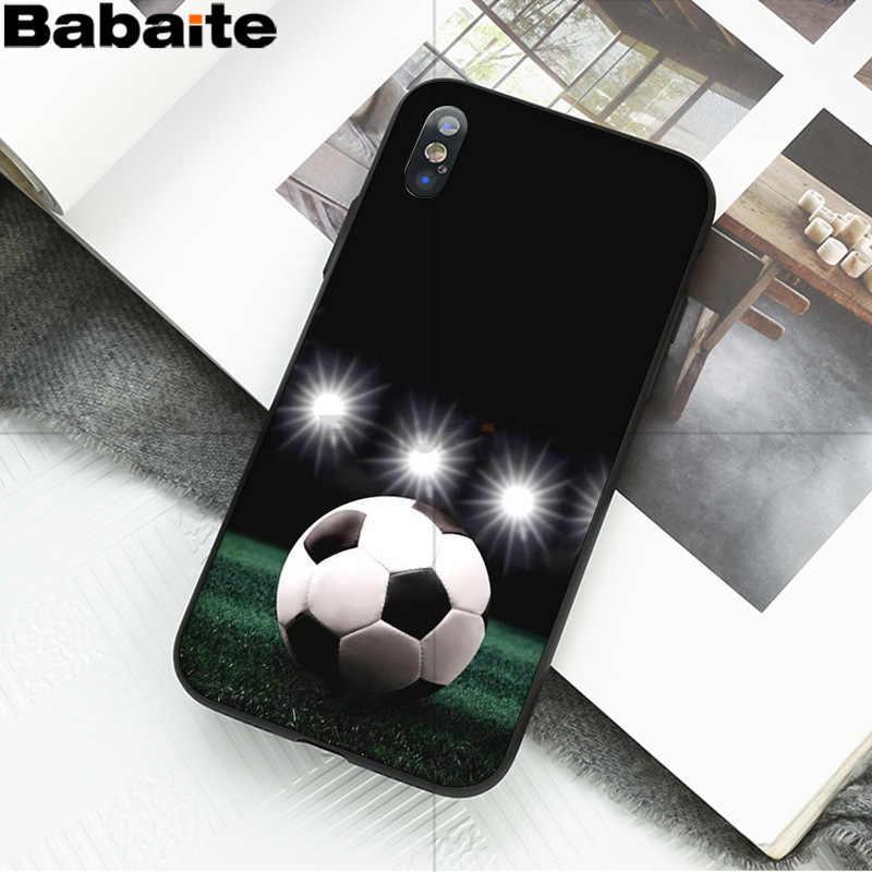 Babaite fútbol pelota de fútbol en agua quema fuego deportes suave funda de teléfono para Apple iPhone 8 7 6 S plus X XS X MAX 5 5S SE XR