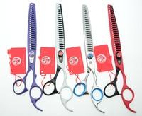 8 0 22 5cm Purple Dragon Professional Dogs Cats Pets Hair Shears Hairdressing Scissors 23 Teeth