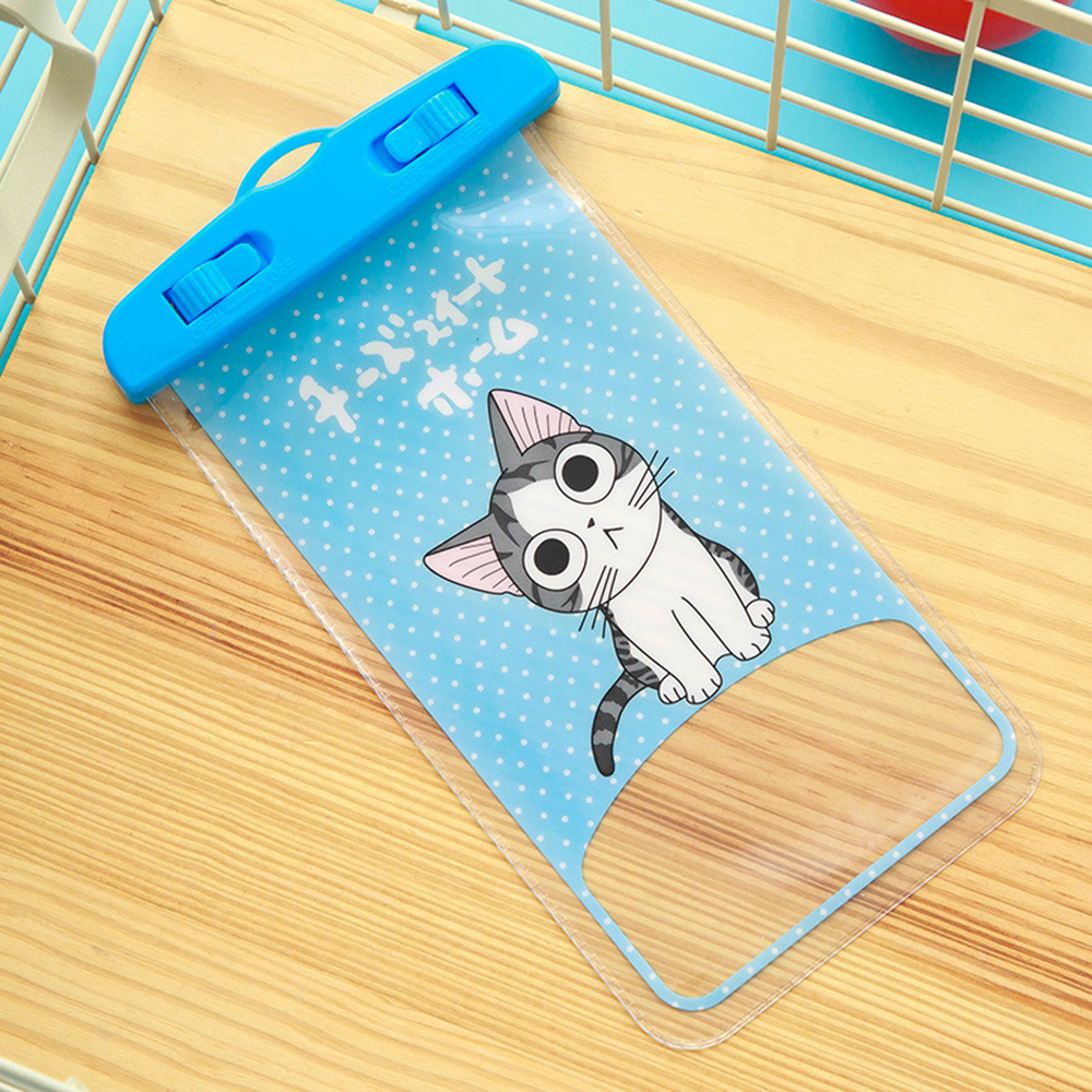 JK56 Lovely Sealed Swimmig Waterproof Phone Cases For iPhone X Cover Bag For Samsung S8 Plus J5 Xiaomi Redmi Note 4X Pouch Bags