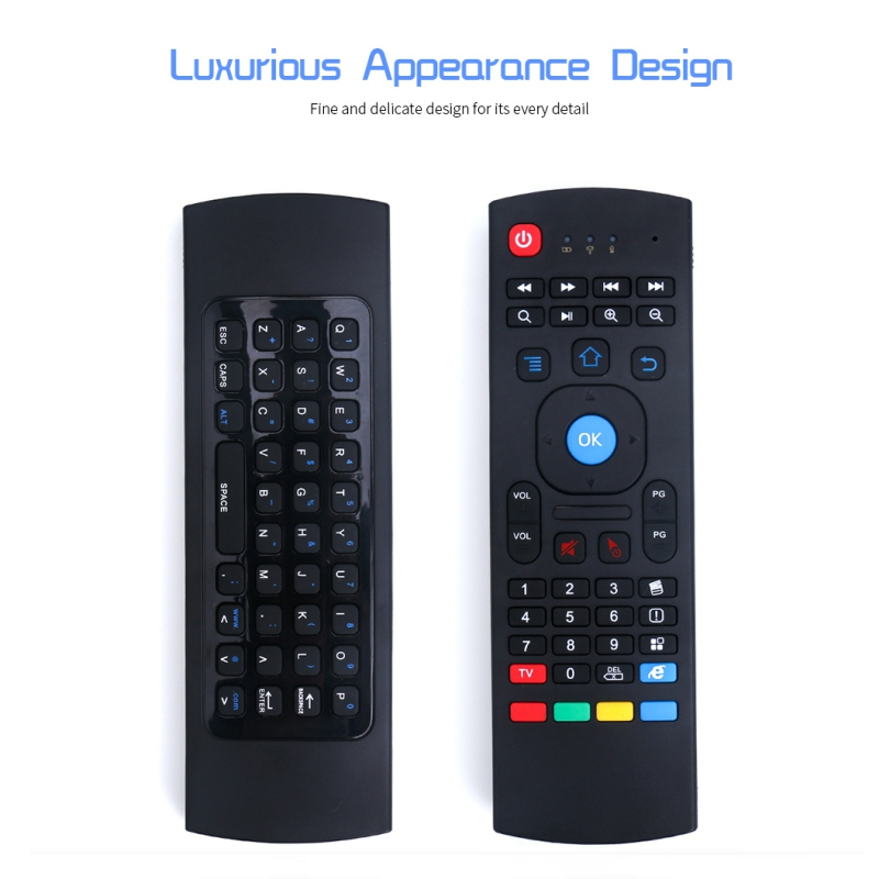 Wireless Qwerty Keyboard for Smart TV Android TV box KODI XBMC MXQ MX3 M8S+T8 QBox 2.4GHz Wireless Remote Control Fly Air Mouse image