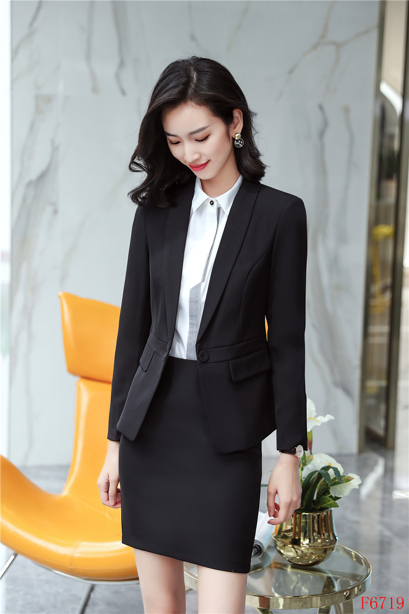 Aidenroyformal Navy Blue Blazer Women Skirt Suit Ladies Business Suits Suit Work Wear Sets Office Uniform Style In Skirt Suits From Women S Clothing Accessories Dirt Devil New 8