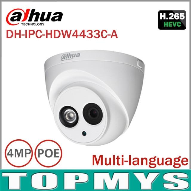 Spedizione Gratuita DaHua 4MP Telecamera ip di POE IPC-HDW4433C-A Giorno Notte a infrarossi HD 1080 P IP67 Impermeabile di sicurezza Domestica CCTV Della Cupola fotocamera