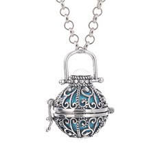 LU YING Mexican Bola Cage Pendant Angel ball new Caller Sounds 16mm Harmony Ball with Chain Necklace Jewelry Gift