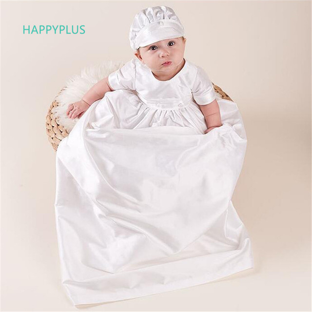 26c79a1e2 HAPPYPLUS Ivory Baby Boy Christening Suit Floor-length Baby Shower Boy  Baptism Clothes Infant Boys First Birthday Outfit Gowns
