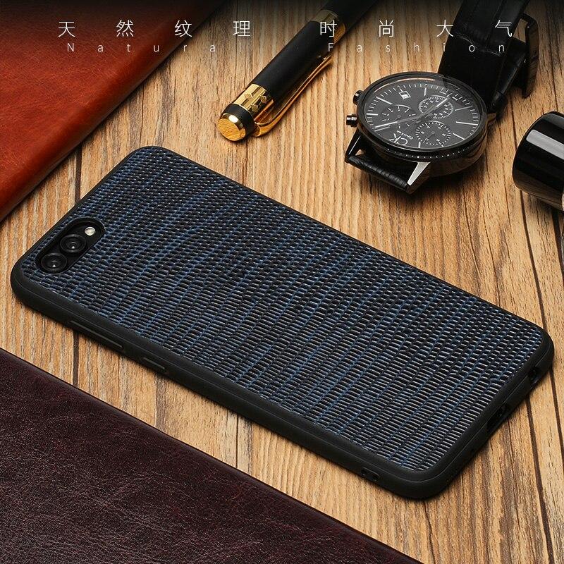 wangcangli Genuine Leather Phone Case For HUAWEI Nova 2S Lizard Texture Back Cover For Huawei Mate 9 10 Pro P10 P20 Plus Cases