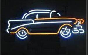 Custom Corvette Car Glass Neon Light Beer Bar 1