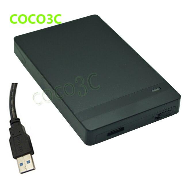 "Free Shipping Tool Free USB 3.0 Plug & Play SATA 9.5mm 7mm Hard Drive  SATA 3.0 External Box 2.5"" Mobile HDD SSD Mini Enclosure"