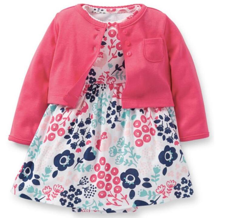 primavera ropa de beb ropa de la muchacha del mono cardigan unids