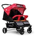 Gêmeos Carrinho De Bebê dobrável Luz Peso Direcções De Viagem Portátil Estilo Europeu Carrinho de Bebê Duplo Carrinho De Bebê Frete Grátis